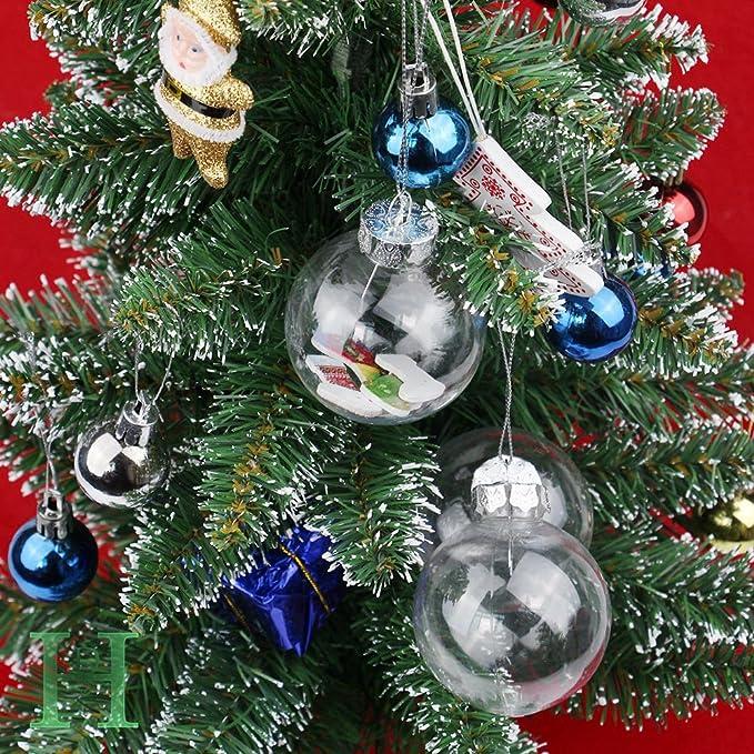 20 esferas de plástico para navidad, decoración de 6,2 cm: Amazon.es: Hogar