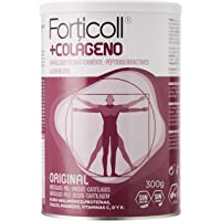 Forticoll Colágeno Péptidos bioactivos en polvo sin gluten o lactosa, sabor Original, 300 gr