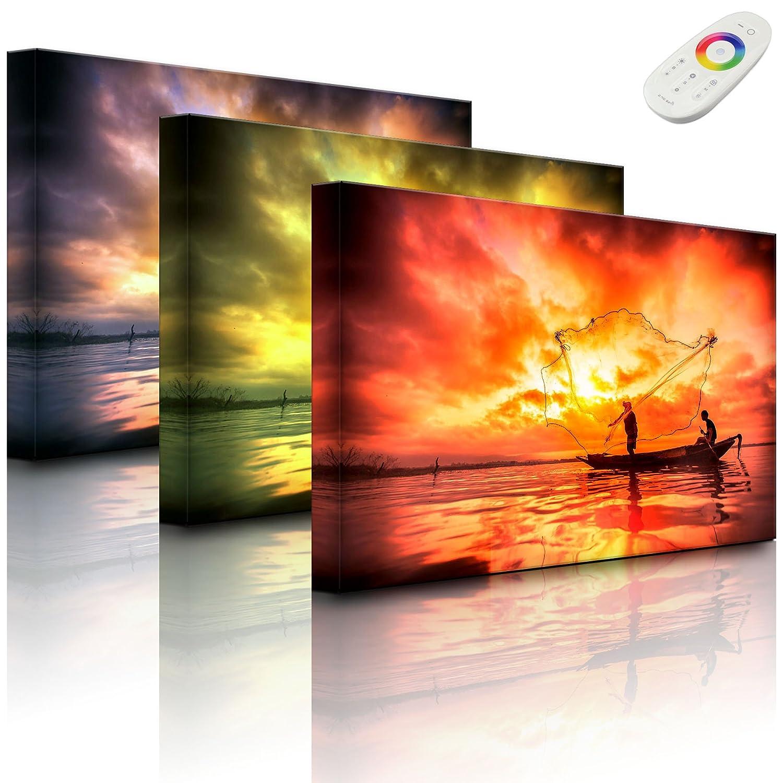 lightbox-multicolor.com Backlit frame with motif (backlit) - lake - 60 x 40 cm - front lighted Rossteutscher GbR