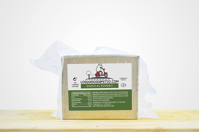 Queso de oveja al romero gourmet (español, curado, ideal con vino ...