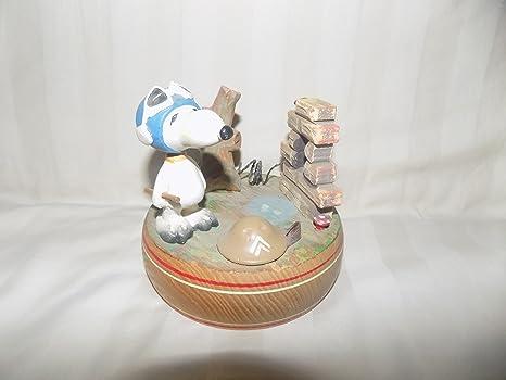 Amazon.com: Snoopy Barón Rojo Giratoria caja de música de ...