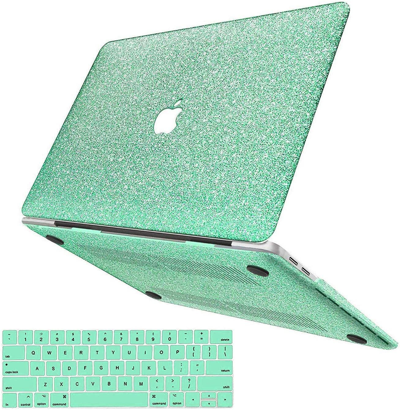 MacBook Pro 13 Inch Case 2019 2018 2017 2016 Release A2159/A1989/A1706/A1708, Anban Glitter Bling Smooth Shell Slim Snap On Case with Keyboard Cover Compatible for Mac Pro 13 with/Without Touch Bar