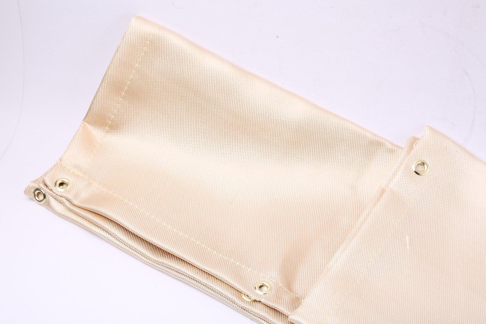 4 Feet x 6 Feet Welding Blanket Fire Flame Retardant Fiberglass Safety Shield Grommets by WINTOOLS