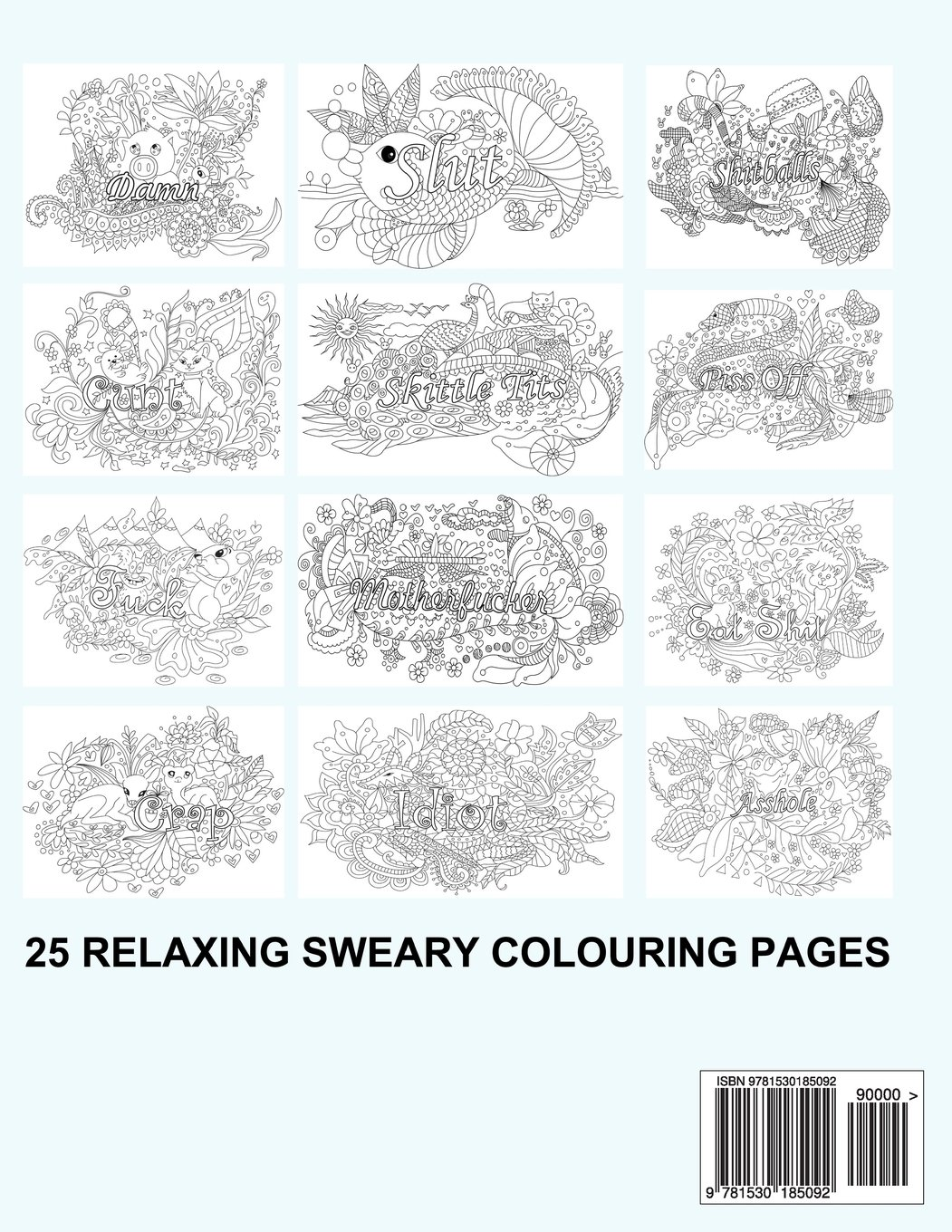 Fancy swear words coloring book - Swear Word Colouring Book Colouring Books For Adults Featuring Stress Relieving Hilarious And Fancy Sweary Words Volume 1 Stress Relief Words To Colour
