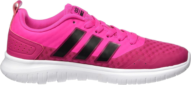 adidas Cloudfoam Lite Flex W Damen Sportschuhe–Gymnastik, Damen, Cloudfoam LITE Flex W, weiß, 40.6 Mehrfarbig (Black, Pink 001)
