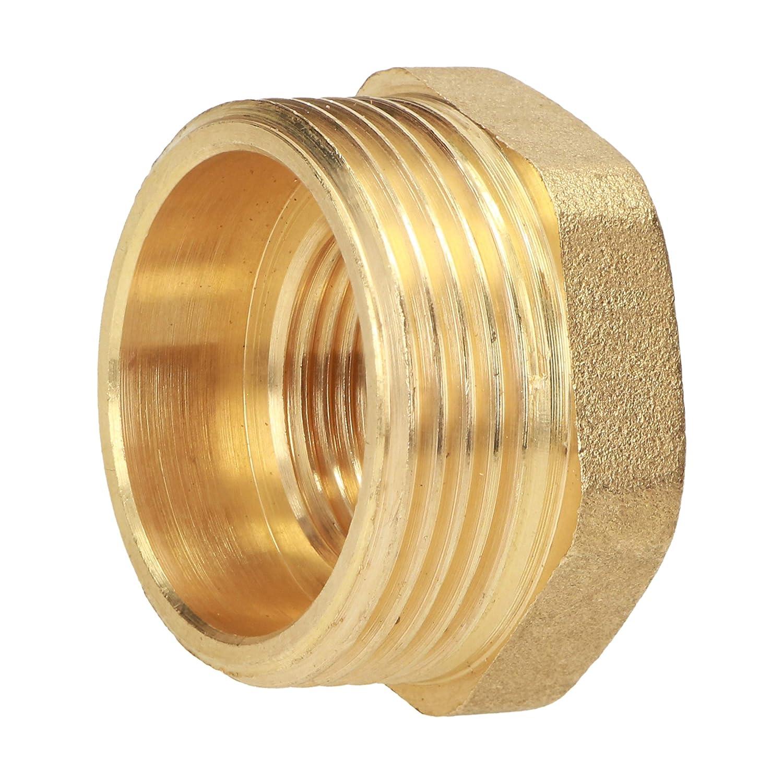 MH conector M2 x F1 1//2 Reductor de lat/ón rosca macho rosca hembra accesorio hex/ágono
