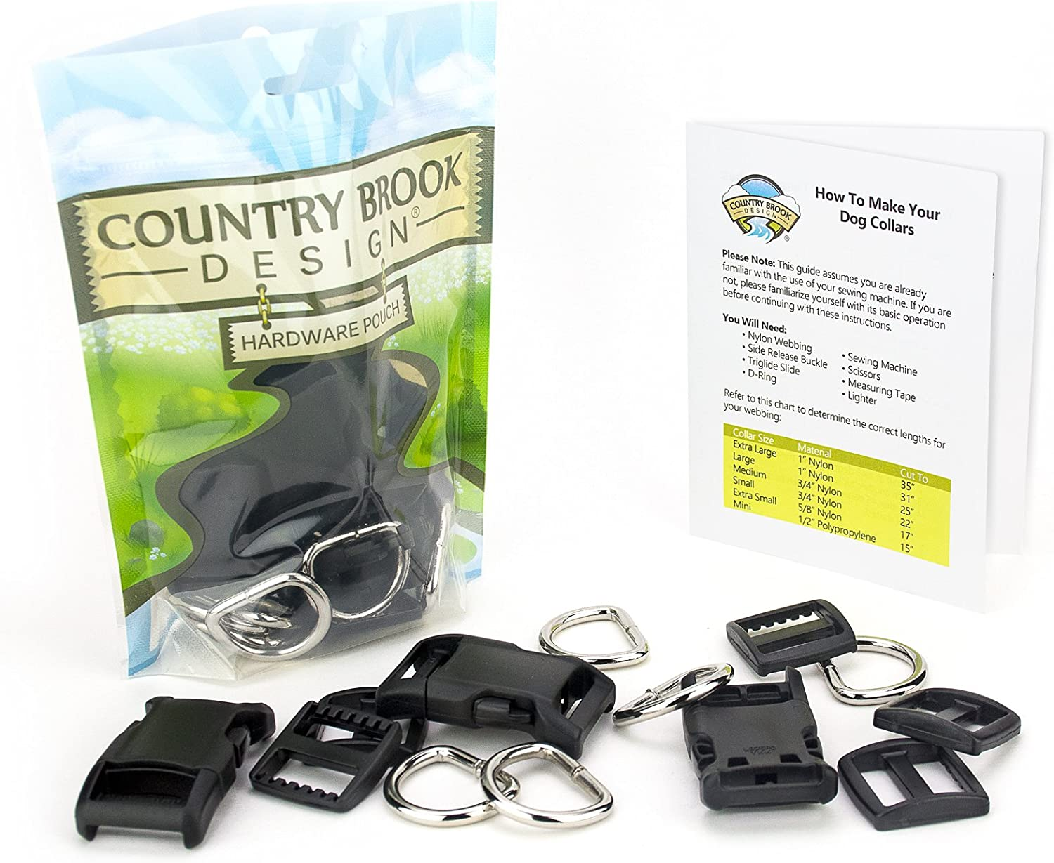 Country Brook Design - 5/8 Inch Deluxe Dog Collar Kit