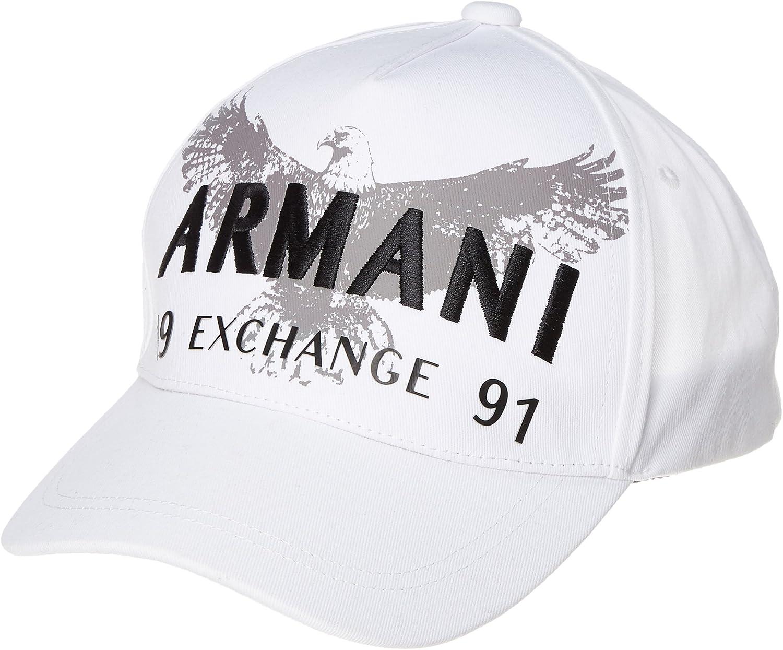 Armani Exchange - Gorra de béisbol - para hombre Blanco Weiß Talla ...