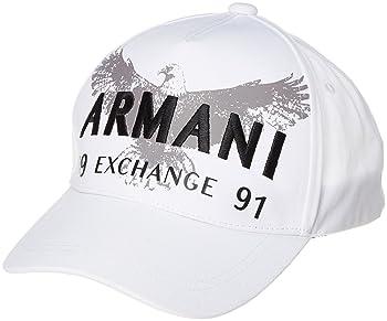 Armani Exchange Eagle A|X 1991 Cap, White