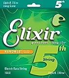 Elixir エリクサー ベースバラ弦 NANOWEB ニッケル 5弦用 Long Scale .130 #15432 テーパーワウンド 【国内正規品】