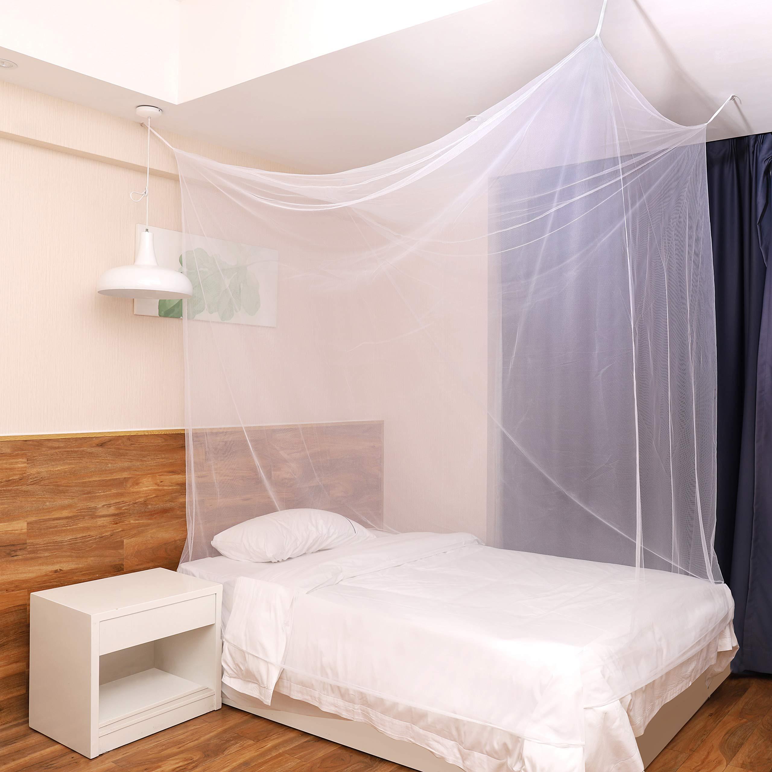 Sekey Mosquitera para cama simple con Kit de colocación, Cortina, Protección repelente contra Insectos