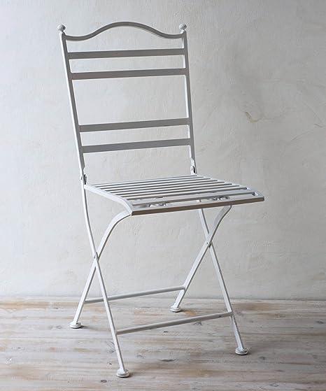 Sedie In Ferro Battuto Bianco.Sedia In Ferro Battuto Bianco Amazon It Giardino E