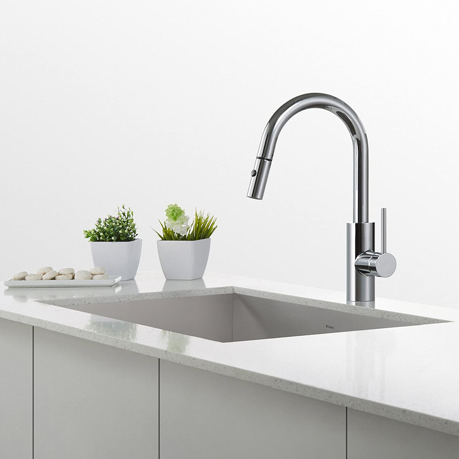 Superieur KRAUS Oletto Single Handle Pull Down Kitchen Faucet In Chrome Finish      Amazon.com