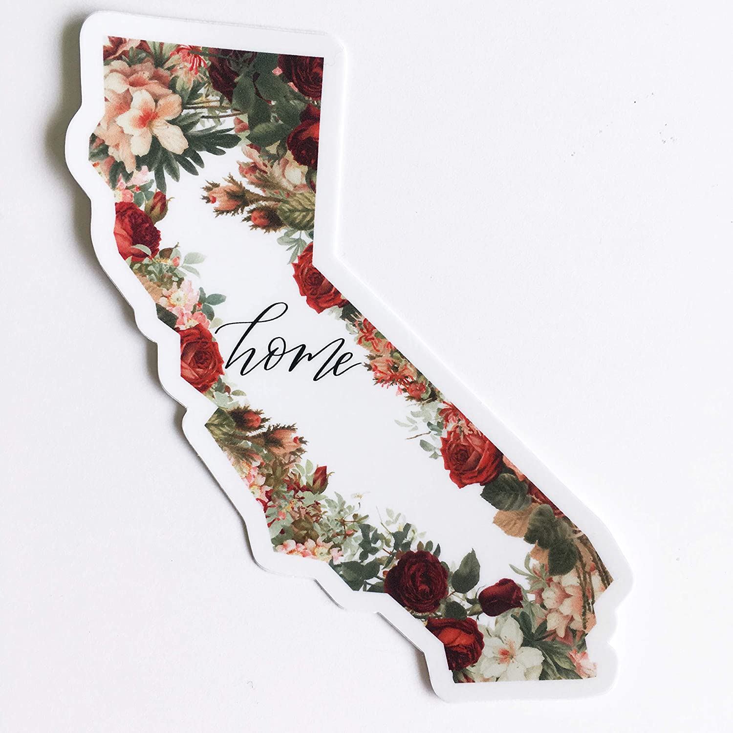 Amazon com: DECAL - California State - Home Floral - vinyl