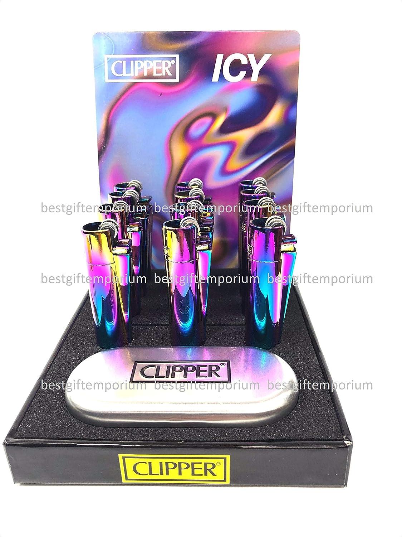 Amazon com: 12 Pcs ICY Rainbow Purple Refillable Adjustable Flame