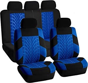 FH Group FB071BLUE115 Car Seat Cover (Travel Master Airbag and Split Bench Compatible Blue)