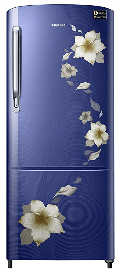 Samsung 192 L 3 Star Direct Cool Single Door Refrigerator ( RR20M272ZU2-NL, Star Flower Blue) Refrigerators at amazon
