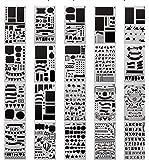 20 PCS Bullet Journal Stencil Plastic Planner Set for Journal/Notebook/Diary/Scrapbook DIY Drawing Template Stencil 10cm x 18cm
