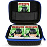 DOUBI Travel Case for Monopoly Deal Card Game - Fits Up to 400 Cards, Including 1x Removable Divider,1x Carabiner