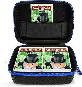 DOUBI - Funda de viaje para juego de cartas de Monopoly Deal, compatible con hasta 400 tarjetas, incluye 1 separador extraíble y 1 mosquetón: Amazon.es: Electrónica