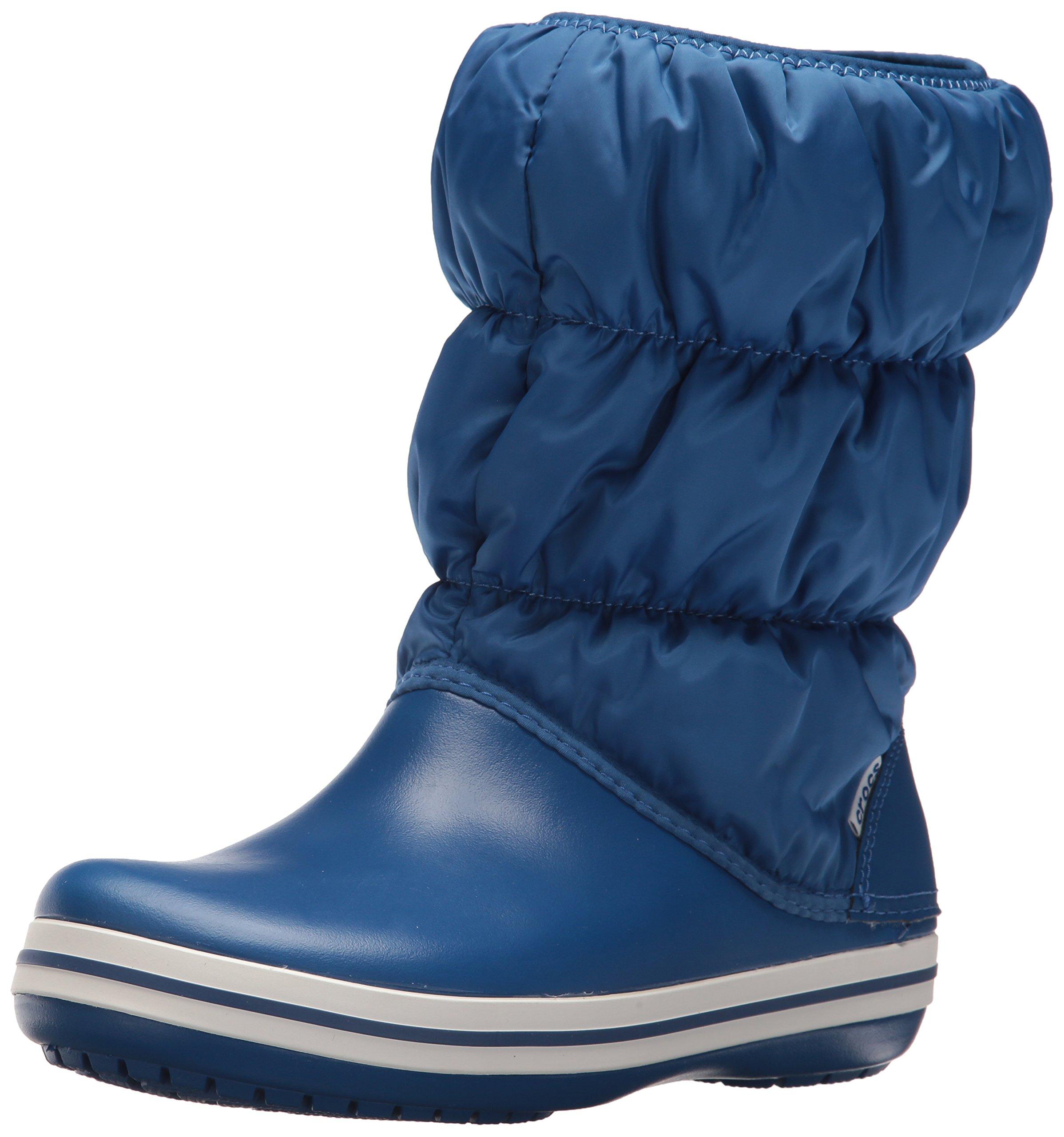 Crocs Women's Winter Puff Snow Boot, Blue Jean/Blue Jean, 6 M US