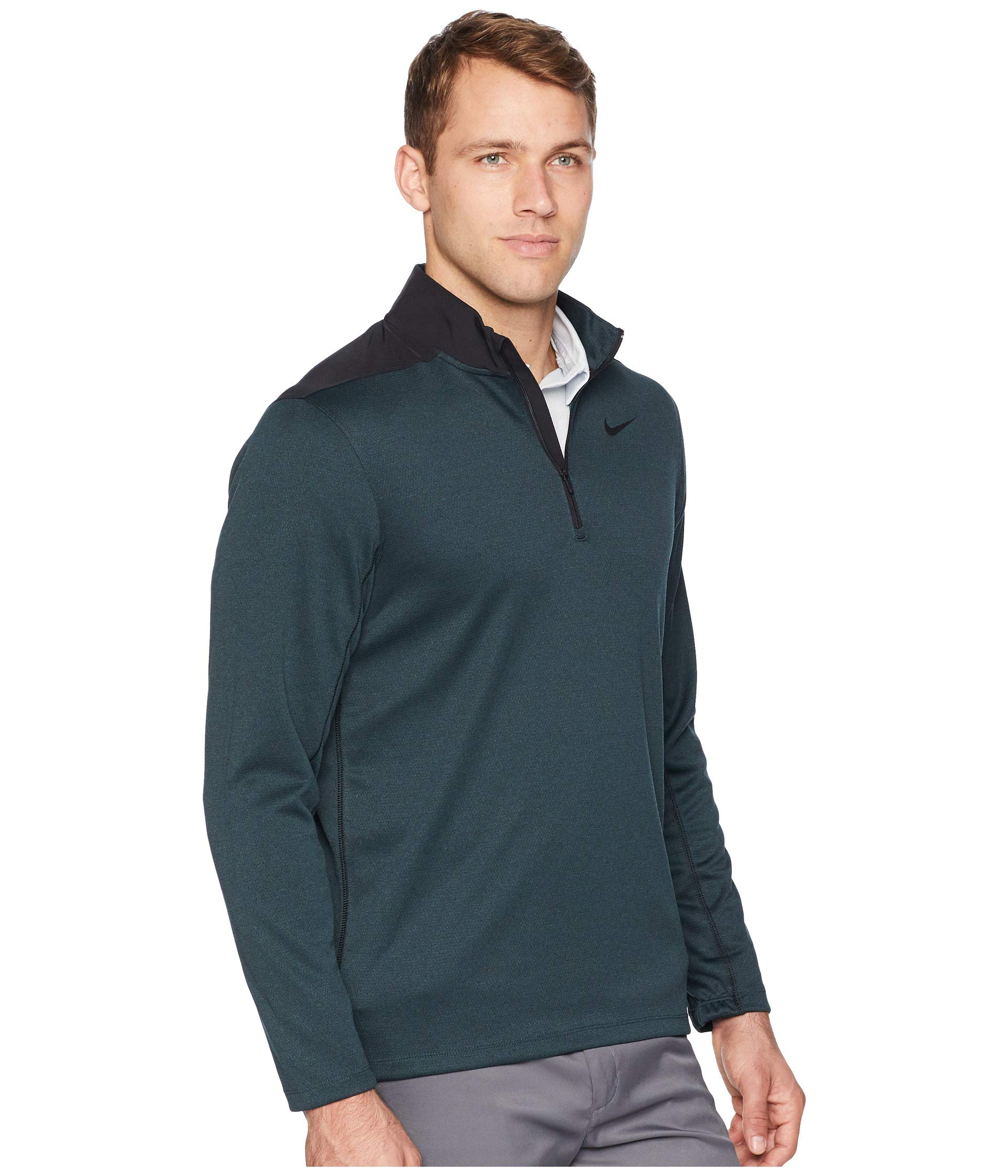 Nike Men's Dry Top Half Zip core Golf Top (Black Midnight Spruce, Small) by Nike (Image #4)