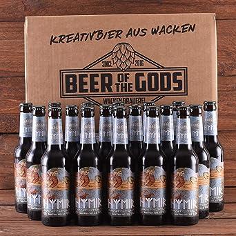Wacken Brauerei Hymir Giant Stout - Pack de cervezas caseras - 18 botellas de 0,33 l de