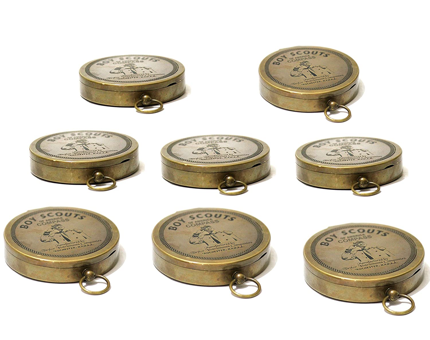 Collectibles Buy American Boy Scout Compass Antique Vintage Brass Compass ZNJ2008