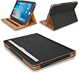 """MOFRED® New Black & Tan 9.7 inch Apple iPad Pro (Launched 2016) Leather Case-MOFRED®- Executive Multi Function Leather Standby Case for Apple New iPad Pro 9.7"""" with Built-in magnet for Sleep & Awake Feature -- Independently Voted by """"The Daily Telegraph"""" as #1 iPad Case! (For iPad Models A1673,A1674 and A1675)"""