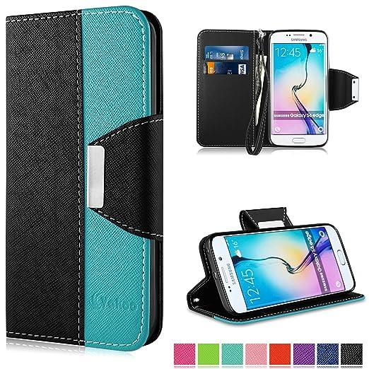 26 opinioni per Galaxy S6 Edge Custodia- Vakoo Samsung Galaxy S6 Edge Cover flip a portafoglio