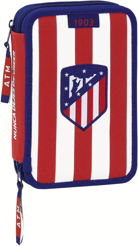 Atletico de Madrid Estuche Plumier Doble pequeño 34 Piezas (SAFTA 411758054), Juventud Unisex, Blanco y Rojo, 20 cm: Amazon.es: Juguetes y juegos