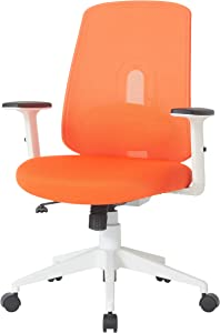 NOUHAUS Palette Ergonomic Office Chair Comfortable Swivel Computer Desk Chair, Lumbar Adjust Rolling Chair. (Orange)