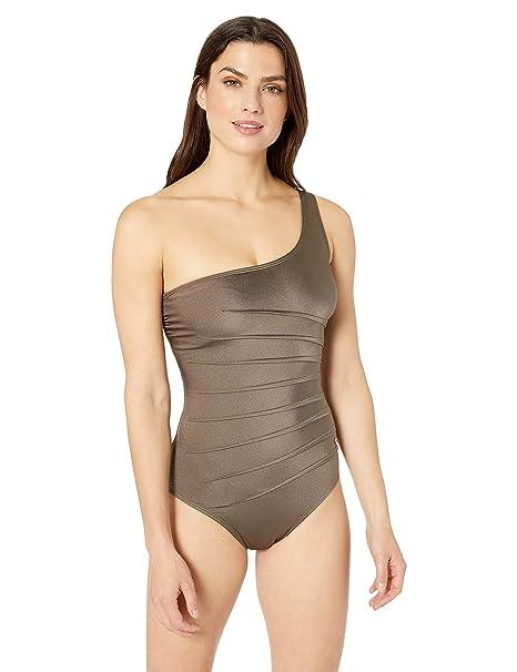 Calvin Klein Mujer CGMMS565 Traje de baño de una Pieza ...