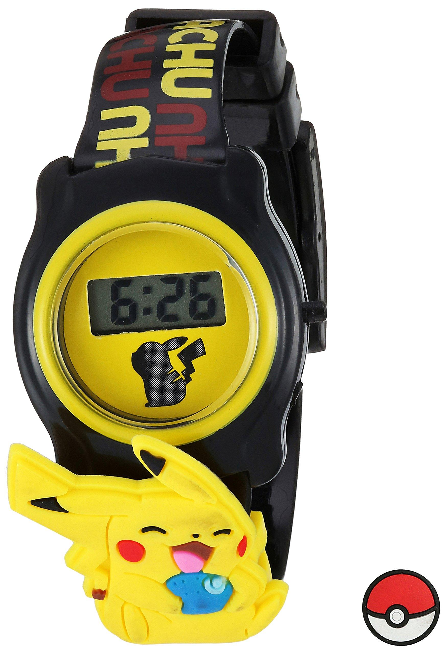 Pokemon Pokemon Kids' POK3085 Digital Display Quartz Black Watch by Pokemon