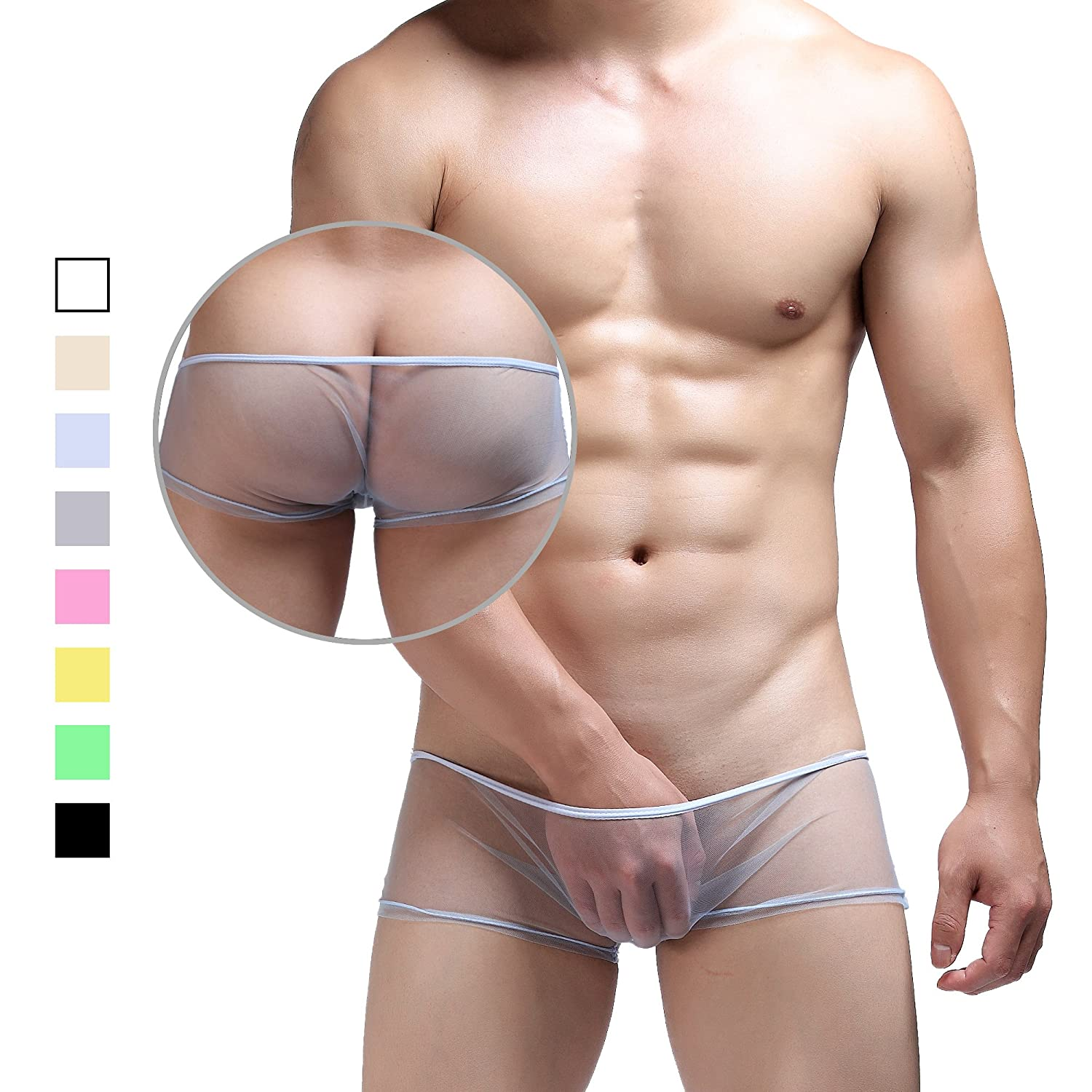 Chris& Je Mens Lightweight Sheer-mesh Breathe Boxer