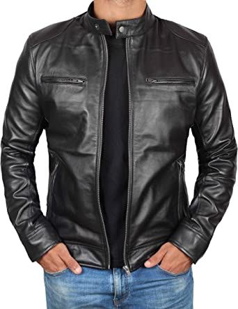 Skin2Fashion Mens Leather Jackets Motorcycle Bomber Biker Real Leather Jacket 74
