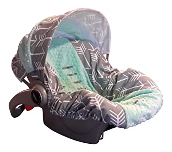 Infant Car Seat Cover Baby Slip Grey Arrow