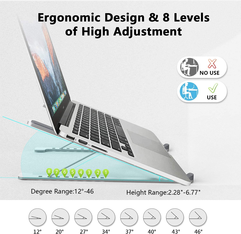 Lenovo Portable Laptop Stand Holder 10-15.6 Laptops 8-Levels ...