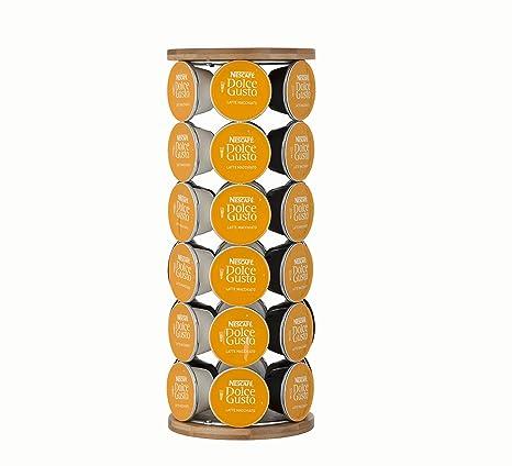 LeXpress Revolving - Dispensador de cápsulas de café Dolce Gusto (bambú, Repujado