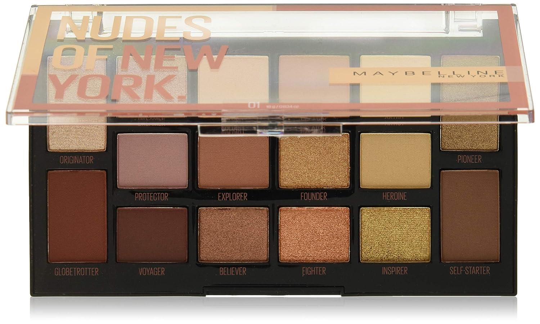 Maybelline Eyestudio Nudes Of New York 16 Pan Eyeshadow Palette Custom Designed Shadow for a wide Range Of Diverse Skin Tones, 0.634 Oz