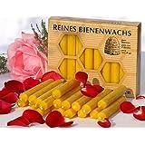 Lot de 40 Bougies En pure cire d'abeille Figura Santa de qualité avec certification Pharmacopée européenne