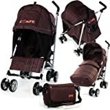 Baby Stroller iSafe Media Viewing Buggy Pushchair - Hot Chocolate (Brown) Complete With + Deluxe 2in1 footmuff + Changing Bag + Raincover