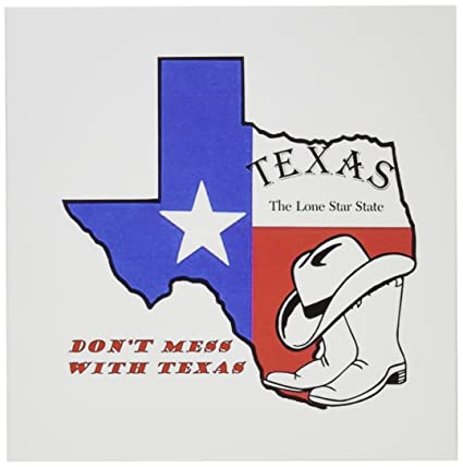 Amazon 3drose do not mess with texas greeting cards 6 x 6 3drose do not mess with texas greeting cards 6 x 6 inches set m4hsunfo