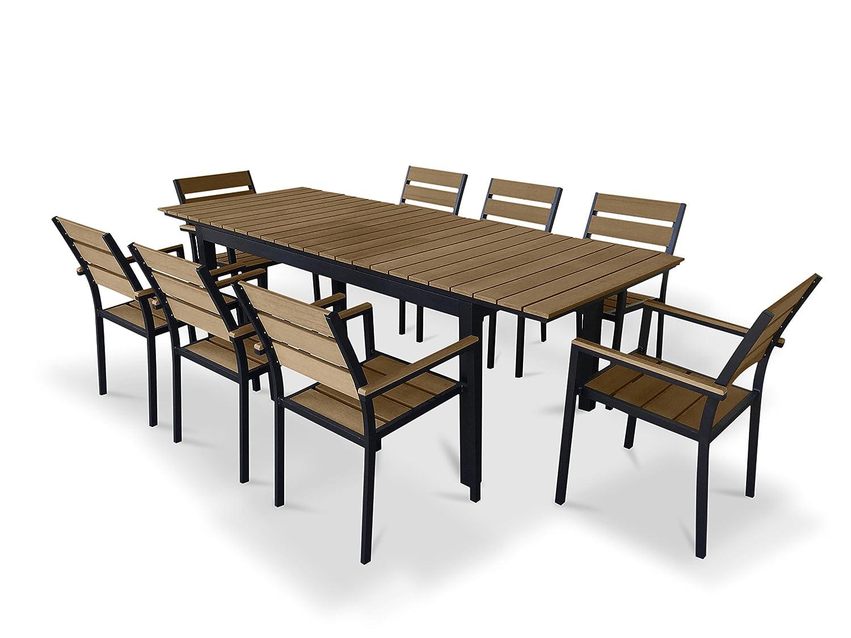 Amazon.com: UrbanFurnishing.net - 9 Piece Eco-Wood Extendable ...