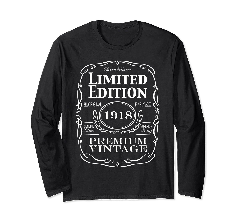 100th Birthday Gift Long Sleeve T-Shirt - Born in 1918 Tee-TH
