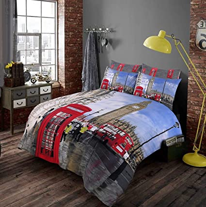 143256f50d5 EHD London City Pattern Luxurious 3D Style Duvet Cover Sets Quilt Cover  Sets Bedding Sets By NZ (Single): Amazon.co.uk: Kitchen & Home