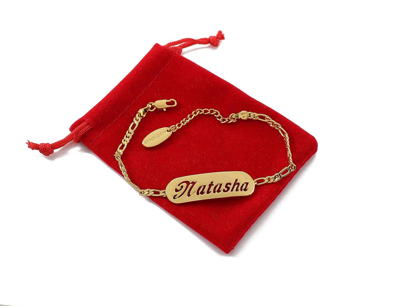 NATASHA 18K Gold Plated Necklace /& Bracelet Gift Set