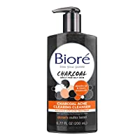 Bioré Charcoal Acne Clearing Facial Cleanser, 6.77 Ounce, with 1% Salicylic Acid...