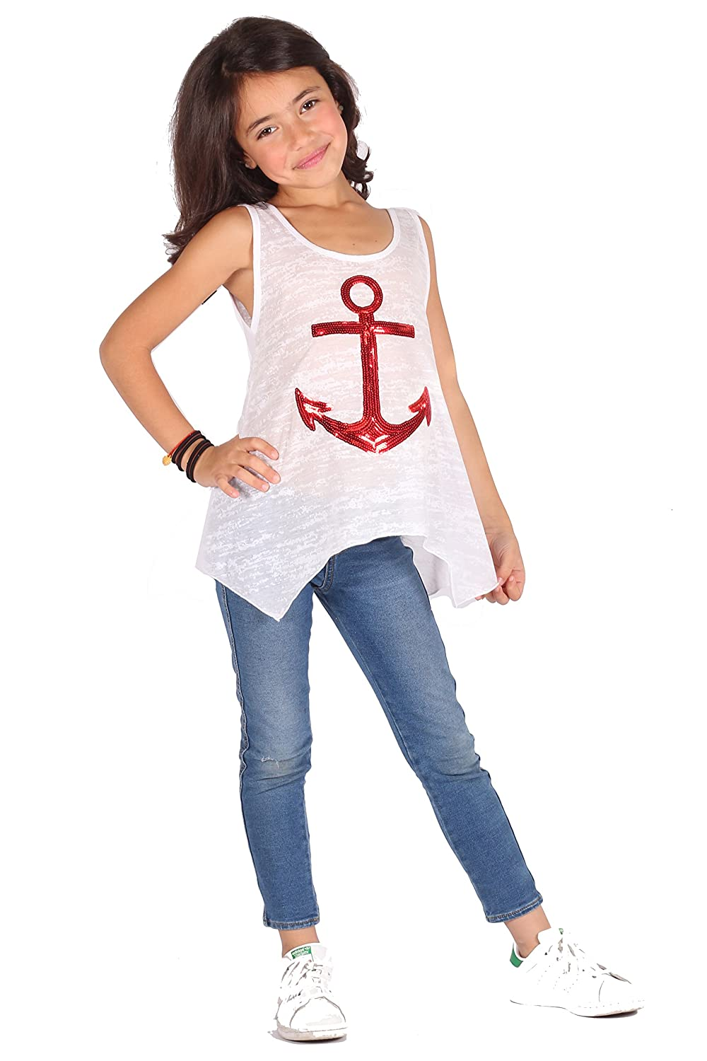 The Childrens Girls Graphic Tank Top LORI /& JANE Made in USA