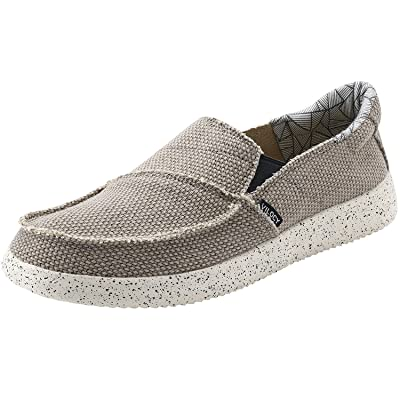 VILOCY Men's Casual Boat Shoes Canvas Slip on Loafer Outdoor Sneakers Cloth Walking Flats | Loafers & Slip-Ons